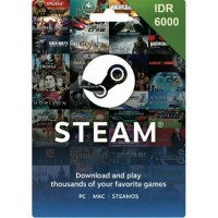 Steam Wallet IDR 6000 Murah Terbatas