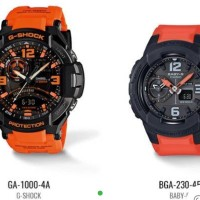 Casio GShock Couple GA1000-4A & BGA230-4B