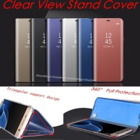 Flip Case Clear View Standing Cover Samsung Galaxy A730 A8Plus A8 Plus