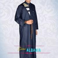 Jual Jubah Gamis Alham Albania Biru Pria Bandung Murah