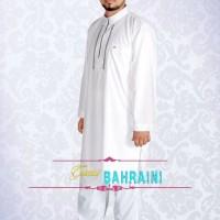 Jual Gamis Bahrain Putih Pria Alham Bandung Murah