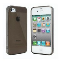 Smooth Surface Translucent TPU Case for iPhone 5/5s/SE - Brown