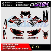 K98 DEKAL KLX 150 DECAL MOTOR STICKER merah rental DTRACKER