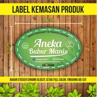 Sticker Label Kemasan Produk | CHROMO | 8 x 5 cm