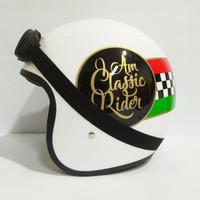 Helm Retro Classic Rider Kacamata Google