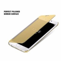 CASING HP SARUNG FLIP MIRROR SAMSUNG GALAXY J3 COVER TRANSPARAN