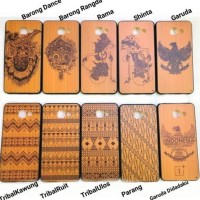CASING HP SARUNG VIVO Y55 Y55L Y55S HARD SOFT COVER KAYU WOOD BATIK