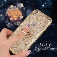CASING HP SARUNG SAMSUNG GALAXY J7 CORE LOVE FLOWER LIST DIAMOND BUNGA