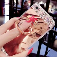 CASING HP SARUNG OPPO NEO 7 A1603 DIAMOND CRYSTAL SOFT MIRROR + RING