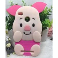 CASING HP SARUNG PIG XIAOMI REDMI 3X 3D SOFT SILIKON BABI PINK