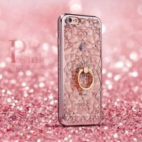 CASING HP SARUNG OPPO NEO 7 A1603 LOVE CRYSTAL FLOWER LIST DIAMOND