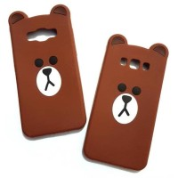 CASING HP SARUNG SAMSUNG ON7 2015 3D HARD KARTUN THIN SLIM BEAR BROWN