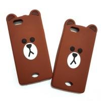CASING HP SARUNG OPPO NEO 5 3D HARD KARTUN ULTRA THIN SLIM BEAR BROWN
