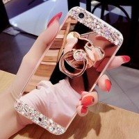 CASING HP SARUNG OPPO NEO 5 DIAMOND BLING CRYSTAL SOFT MIRROR + RING