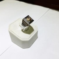 Cincin emas putih kadar 750 pria berat 8.45 gram size 1 Murah