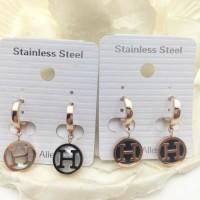 Anting HM new branded print ring fashioned stainless Murah