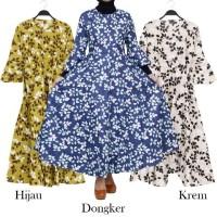 Baju Muslim Wanita Gamis Payung Bahan Katun Jepang All Size Fit L