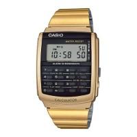 JAM TANGAN CASIO ORI DATABANK CA-506G-9A GOLD