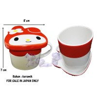 My Melody Glass With Lid (Red Hat) 291914