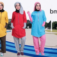 BMS 08, Believe Setelan Baju Olahraga Wanita Big Size Jumbo XXXL/3XL