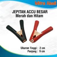 Harga jepitan aki buaya besar merah hitam sepasang | antitipu.com