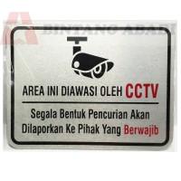 STAR Hardware Stiker Sign Petunjuk CCTV STG04 - AREA INI DIAWASI