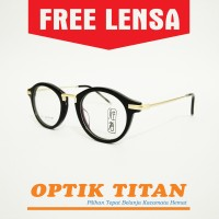 Harga frame kacamata minus baca pria wanita moanco 9053 gold | Pembandingharga.com