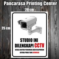 CCTV 13 STUDIO Sticker safety sign warning sign camera Stiker Surabaya