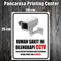 CCTV 4 RUMAH SAKIT Sticker safety sign warning sign Stiker Surabaya