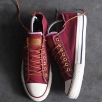 Sepatu Converse PEACHED Low Maroon/merah marun