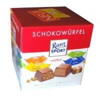 Ritter Sport Schokowurfel Chocolate Nugat Hazelnut Cream Cokelat Susu