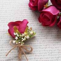 Leony Sahara Boutonniere Corsage Korsase Wedding Murah