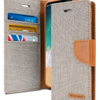 Mercury Canvas Diary Case for Samsung Galaxy J5 2017 - Grey