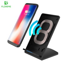 TerMurah Floveme Qi Wireless Charger Stand for Smartphone  Black