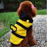 hoodie anjing kucing baju kostum lebah bee kuning