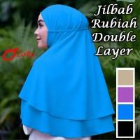 Jual jilbab rubia double layer hijab rubiah pastan instan khimar instant Murah