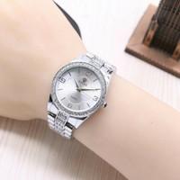 jam tangan rolex wanita semi ori / jtr 1172 silver one'zhop