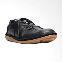 Life8 Genuine Leather Lazy Step-on Shoes Sepatu Pria - Black