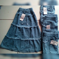 Rok Anak Muslim/ Rok Anak Denim (Soft Jeans)
