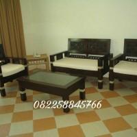 meja kursi tamu minimalis dari kayu jati Jepara gratis ongkir murah