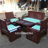 sofa meja kursi tamu kayu jati ukir khas Jepara murah free ongkir