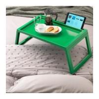 Meja Makan Lipat Tempat Tidur IKEA KLIPSK HIJAU Nampan Baki Kasur