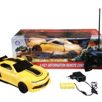 Mainan Mobil Robot Transformer Bumble Bee RC DEFORMATION CAR BUMBLEBEE