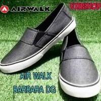 Sepatu Casual. Slip On AIRWALK BARBARA Dark Grey ORIGINAL ASLI Murah