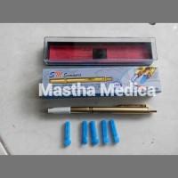 Jarum steril + Pen Pena lancet Bekam Tes Darah Sammora Samora GOLD