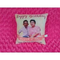 B327 Bantal Foto Custom Kado Ulang Tahun Bapak dan Ibu II Birthday Gif