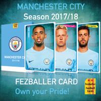 Manchester City 2017-2018 Fezballer Cards Kartu Bola Reguler