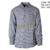 kemeja flanel jumbo / baju flannel big size/ ukuran besar pria Limited