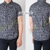 Baju Kemeja Bahan Flanel Pria Lengan Pendek Slimfit / Flannel SALE
