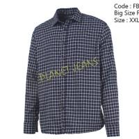kemeja flanel jumbo / baju flannel big size/ ukuran besar pria Diskon